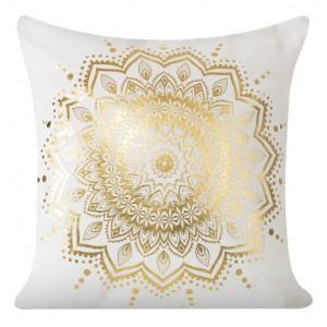 Ozdobné obliečky na vankúše so vzorom zlatého kvetu