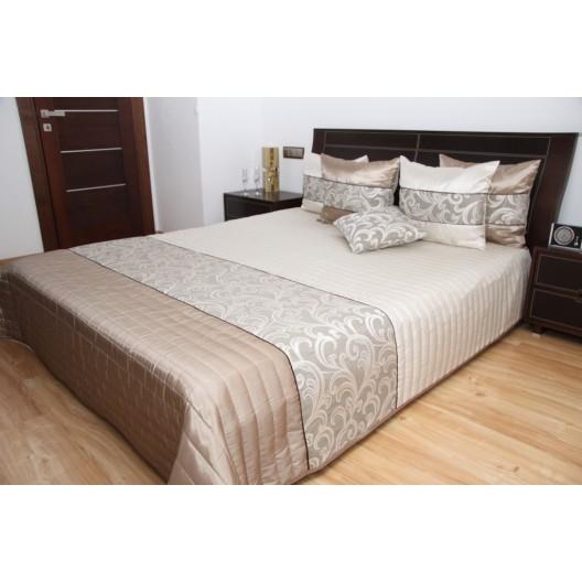 Kvalitné béžové prikrývky na manželskú posteľ