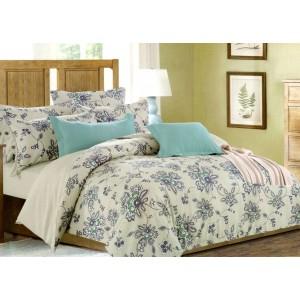 Béžové posteľné návliečky s kvetmi