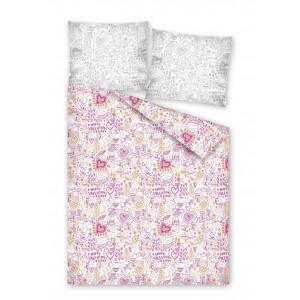 Posteľné obliečky s ružovými vzormi