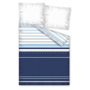 Modré posteľné obliečky v rozmere 160x200 cm