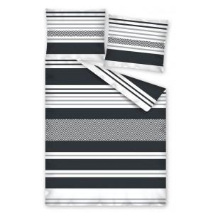 Sivé posteľné návliečky s pruhmi