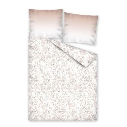 Posteľné obliečky so vzorom ružových kvetov