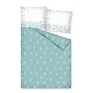 Modré posteľné obliečky so vzorom