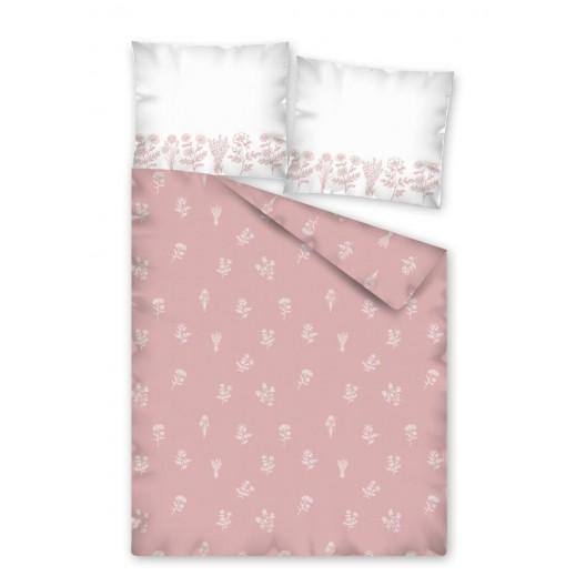Ružové posteľné obliečky s kvetmi