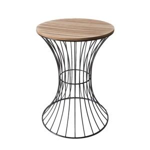 Kovovo drevené dekoračné stolíky
