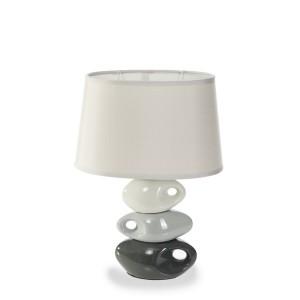 Moderná stolová lampa sivej farby
