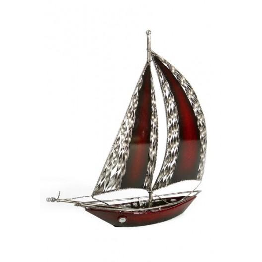 Plachetnica dekoračná figúrka bordovej farby