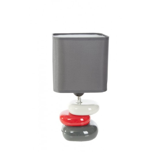 Sivé stolové lampy do spálne