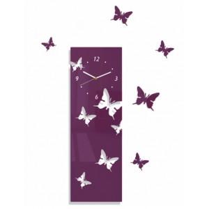 Nástenné nalepovacie hodiny s motívom motýľov