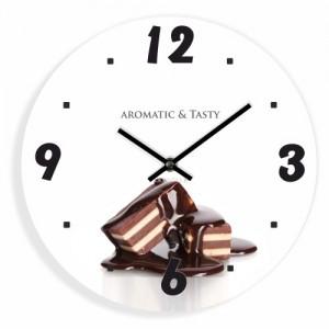 Kuchynské nástenné hodiny s motívom čokolády