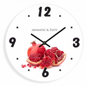 Nástenné hodiny do kuchyne granátové jablko