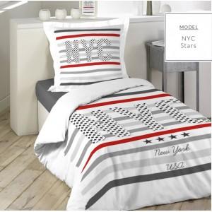 NEW YORK posteľné obliečky s pruhmi