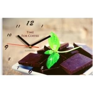 Ručičkové kuchynské hodiny s čokoládou