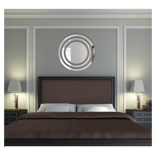 Okrúhle dekoračné zrkadlo v modernom dizajne