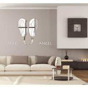Akrylové zrkadlá na stenu v motíve krídel