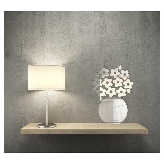 Zrkadlá bytové dekorácie v motíve kvetov vo váze