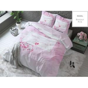 Romantické posteľné obliečky v ružovej farbe