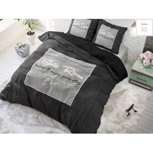 Čierne luxusné posteľné návliečky 200x220
