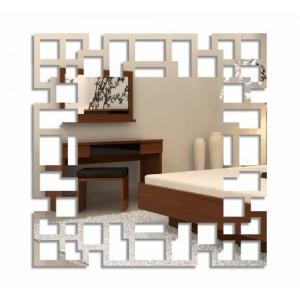 Nalepovacie štvorcové hodiny labyrint
