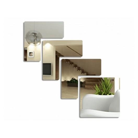 Nerozbitné nalepovacie zrkadlo do obývačky