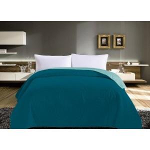 Prešívané prehozy na posteľ tyrkysovej farby