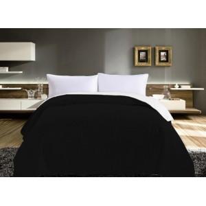 Obojstranné prehozy na posteľ čierno biele