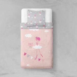 Ružové posteľné obliečky s balerínou