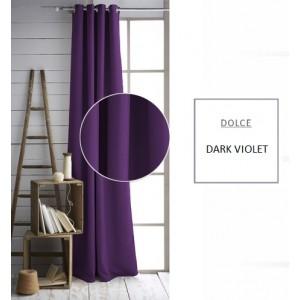 Jednofarebný záves tmavo fialovej farby