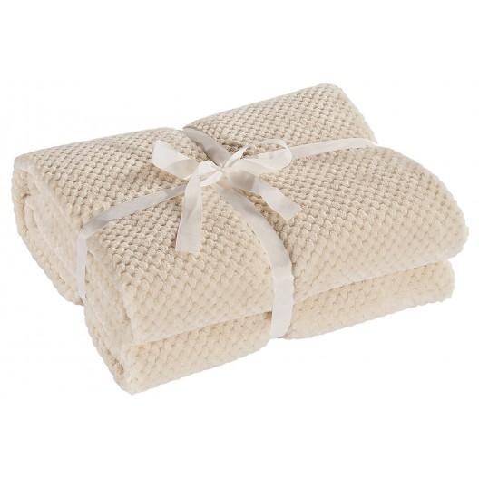 Krémové deky z mäkkého materiálu