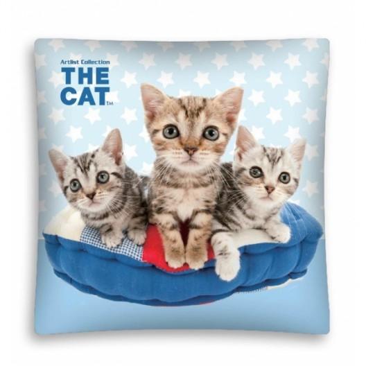 Modrá obliečka s mačičkami pre deti