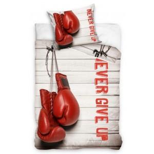 Béžové posteľné obliečky s motívom boxerských rukavíc