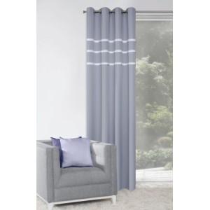 Elegantné interiérové závesy sivej farby