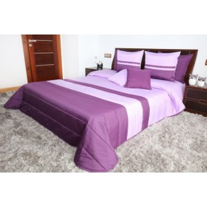 Luxusné fialové prehozy na posteľ