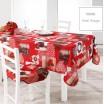 Vianočný obrus na obdĺžnikový stôl v červenej farbe