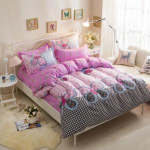 Dievčenské posteľné obliečky ružovej farby