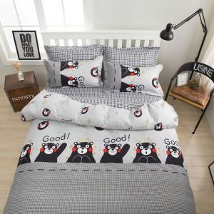 Sivé detské obliečky s motívom medvedíkov