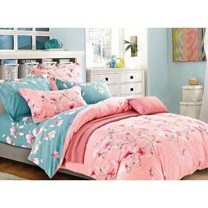 Ružové obojstranné posteľné obiečky s kvetmi