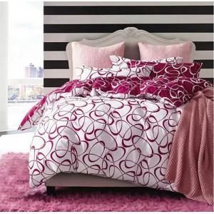 Biele obojstranné posteľné obliečky s potlačou