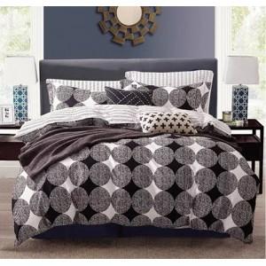 Obojstranné posteľné obliečky čiernej farby