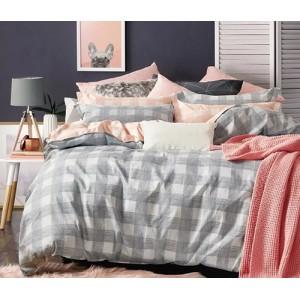 Sivé posteľné obliečky obojstranné