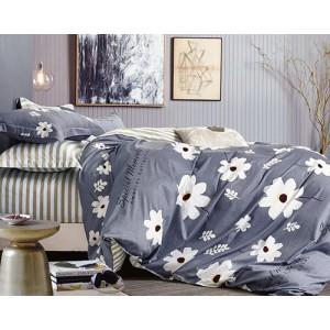 Sivé posteľné obliečky so vzorom kvetov