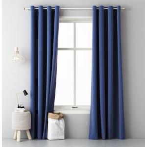 Luxusný záves tmavo modrej farby