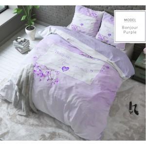 Romantické posteľné obliečky fialovej farby