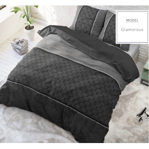 Tmavo sivé posteľné obliečky mikrovlákno