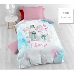 Biele detské posteľné obliečky so sloníkmi