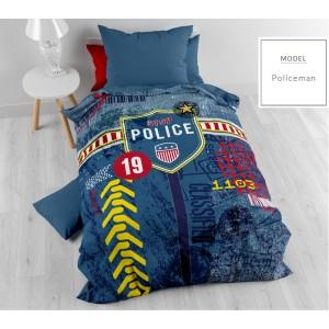 Detské posteľné obliečky s policajným motívom