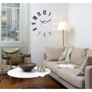 Zrkadlové nástenné hodiny do obývačky