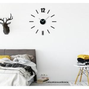 Moderné nástenné hodiny čiernej farby