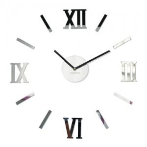 Nalepovacie zrkadlové hodiny na stenu
